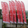 Wholesales Low Price Single Side Printing Spike Feather Flying Flag