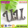 Custom Rhinestone Alphabets Silver Earring #2642