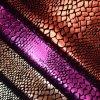 Crocodile Animal Skin Foiled Stamping Faux PU Leather Shoe Bag Fabric
