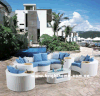 White Color Sectional Sofa Outdoor Garden Furniture Bp-873A