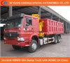 6X4 Dump Truck with 10t Crane