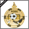 Custom Gold Metal Sport Medal with Two Sides Logo (BYH-10840))