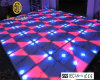 Night Club Disco DJ Light White Acrylic RGB Color Portable Interactive DMX512 LED Dance Floor for Sale