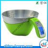 5kg Electronic Measuring Cup Kitchen Weight Scale Food Balance with Stainless Steel Bowl (HY-CP2)