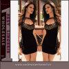 Wholesale Sex Gold Neck Black Mini Dress Lingerie Sexy (21966)