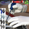 Nmsafety White PU Coated Electronic Factory Assembly Work Gloves