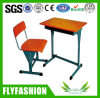 School Adjustable Wooden Single Student Desk and Chair Set (SF-08S)