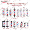 Best Seller Factory Price Hair Salon Sign LED Rotating Barber Pole Light