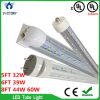 High Brightness T8 60W 2400mm LED Tube Light with Ce RoHS UL Certifications for Mall Hotel House Lighting
