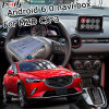 Android 6.0 GPS Navigation Box for Mazda Cx-3 Mzd Connect Video Interface Knob Control Waze