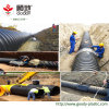 Steel Band Reinforced Spiral Sn8 HDPE 1000mm Corrugated Pipe