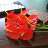 Real Touch Anthurium Flowers PU Fake Flowers Lighted Decor Flowers Factory Price