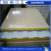Rrockwool / Glasswool / EPS / PU Sandwich Wall Panel of PPGI Steel Sheet for Prefabricate Building Container House