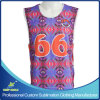 Custom Sublimation Men′s Lacrosse 2 Ply Reversible Sleeveless Jersey