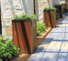 FO-9C06 Rectangular Corten Steel Planter with Any Size for Garden Decoration