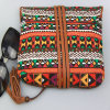 Boho Print and Floral Pattern Wallet Cotton Canvas Purse for Women