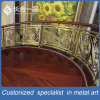 Golden Carve Patterns Stainless Steel Stair Handrail for Hotel Lobby