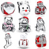 Santa Claus Christmas S925 Silver Charm Bead Fit Bracelet jewelry