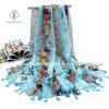 Large Size Printed with Fringed Beach Shawl Fashion Scarf