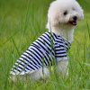Pet Clothes Collarless Stripe Cotton Pet Products