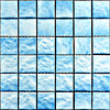 Quality Square Swimming Pool Glass Mosaic with Blue Color Design