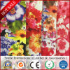 Flower Printed Pattern Synthetic Leather Fabric Digital Printed PVC Leather for Wholsale