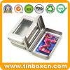 Fridge Magnet Card Hinged Metal Gift Tin Box with PVC Window