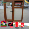 Wooden Grain Awning Windows, PVC Double Glass Windows Price
