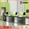 Fresh High Gloss Light Green Aluminum Iterior Wall Panel