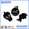 Factory Custom Shaped Black Metal Alloy Charms for Jewelry
