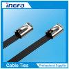 100PCS Strong Stainless Steel Grade Metal Locking Zip Ties 7.9X450mm