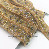 New Element Rhinestone Trimming Hot Fix Beads Rhinestone Chain for Garment Accessories Trimming (TP-20mm Gold)