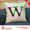 Squae LED Light 45cm*45cm Cotton Pillow with Letters Print