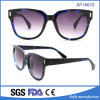 Big Frame Blue and Black Demi Sunglasses with Purple Lens