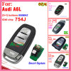 Auto Remote Key for Audi A6 Q7 with 3 Buttons 433MHz and ID48 Chip 4f0 837 220 Af