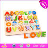 Wooden Alphabet Jigsaw Puzzle for Kids Education W14b080
