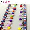 Wholesale Garment Accessory Fancy Colorful POM POM Fringe Lace