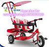 High Quality Wholesale Two Seats Baby/Kid/Children Tricycle