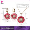 Wholesale Environmental Gold Plated CZ Fashion Jewelry Sets