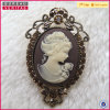 Wholesale Vintage Metal Film Cameo Brooch Jewelry