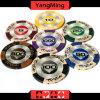 High Quality/ 14G Clay Poker Chips with Mette Sticker Casino Clay Chips (YM-CY01)