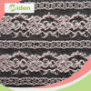 Embroidered Pink Color Nylon Net Lace Chantilly Lace Fabric