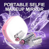 2018 Multifunctional Rechargeble LED Selfie Light with Makeup Mirror