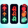 Waterproof 12 Inch Vintage LED Flashing Traffic Light / Traffic Signal for Roadway Safety