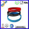 Promotional Debossed Ink Filled Silicone Bracelet/Silicon Wristband