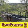 Aluminium Black Balustrade/Handrail in Outside Area