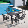 Modern Design High Quality Outdoor Furniture Aluminum Garden Table for Family Dining Party