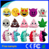 Hot Sale Cartoon PVC Emoji Power Bank Portable Mobile Battery Charger