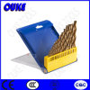 19PCS Fully Ground HSS Cobalt Drill Bits Set