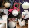 Fashion Real Fox Fur Pompons for Woman Bag